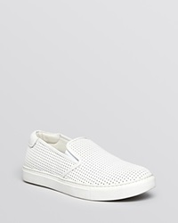 Kenneth Cole Flat Slip On Sneakers Perforated Kerry White