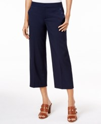 Tommy Hilfiger Cropped Wide Leg Sailor Pants Peacoat Print