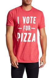 Mighty Fine Vote For Pizza Tee Red