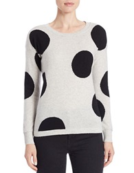 Ply Cashmere Polka Dot Cashmere Sweater Blizzard Black