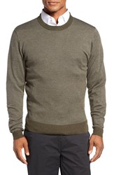 Bobby Jones Men's Bird's Eye Merino Wool Sweater Safari
