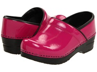 Sanita Professional Patent Fuschia Patent Women's Clog Shoes Pink