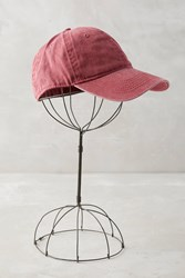 Anthropologie Washed Canvas Baseball Cap Wine