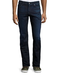 7 For All Mankind Standard Straight Leg Jeans Nightshadow Blue