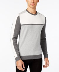 Alfani Men's Colorblocked Sweater Only At Macy's Smooth Silver Combo