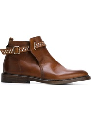 Henderson Baracco Studded Ankle Boots Brown