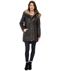 Marc New York Lauren 35 Utility Rain Anorak Black Women's Coat