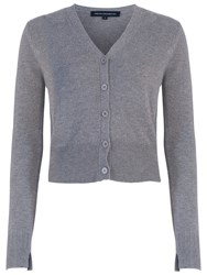 French Connection Core Cashmere Blend Cardigan Mid Grey Marl