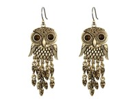 Lucky Brand Owl Earrings Gold Earring