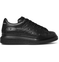Alexander Mcqueen Exaggerated Sole Embossed Leather Sneakers Black