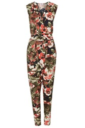 Floral Jumpsuit By Wal G Khaki