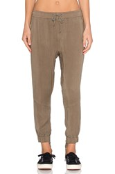 Pam And Gela Moto Lace Up Pant Army