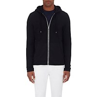 Michael Kors Men's French Terry Zip Front Hoodie Black Blue Black Blue