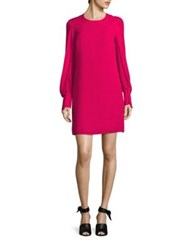 3.1 Phillip Lim Silk Draped Sleeve Shift Dress Bright Cerise