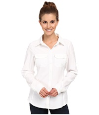 Columbia Saturday Trail Iii L S Shirt White Women's Long Sleeve Button Up