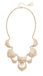 Adia Kibur Sebastian Statement Necklace White Gold