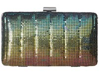 Jessica Mcclintock Noelle Quilted Mesh Clutch Peacock Clutch Handbags Multi