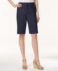 Charter Club Petite Bermuda Shorts Only At Macy's Intrepid Blue