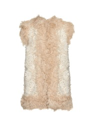 Sea Foral Embroidered Shearling Gillet