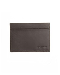 Estime Brown Leather Card Wallet With Multiple Pockets