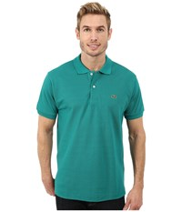 Lacoste L1212 Classic Pique Polo Shirt Emerald Green Men's Short Sleeve Knit