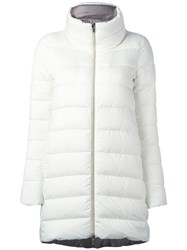 Herno High Neck Zipped Coat White