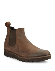 Donald J Pliner Shale Perforated Leather Chelsea Boot Java