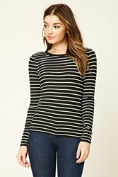 Forever 21 Stripe Knit Long Sleeve Top
