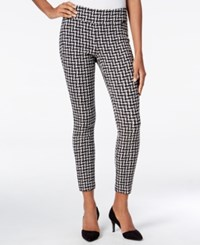 Bar Iii Checkered Skinny Pants Only At Macy's Black Combo