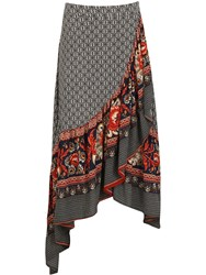Izabel London Wrap Maxi Skirt Multi Coloured Multi Coloured