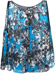 Emanuel Ungaro Abstract Flower Print Flared Top Multicolour