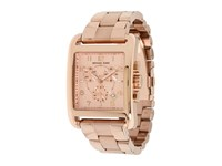 Michael Kors Square Quartz Day Date Chronograph Link Bracelet Watch Mk5488 Shiny Rose Gold Rose Gold Chronograph Watches