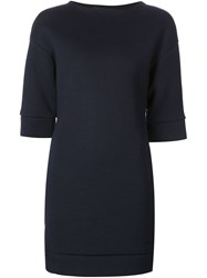 Neil Barrett Mini Sweater Dress Blue