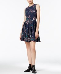 Maison Jules Printed Fit And Flare Dress Only At Macy's Blu Notte