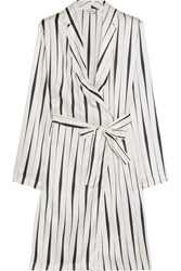 La Perla Striped Silk Satin Robe