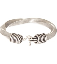 Dries Van Noten Twisted Round Bracelet Silver