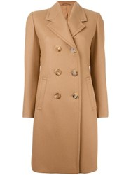 Neil Barrett Double Breasted Coat Nude Neutrals