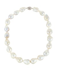 Belpearl Multicolor Baroque Nucleated Pearl Necklace