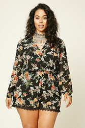 Forever 21 Plus Size Floral Print Romper