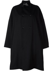 Yohji Yamamoto Double Breasted Oversized Coat Black