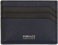 Versace Navy Leather Card Holder