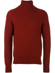 Natural Selection 'Cotswold' High Neck Jumper Red