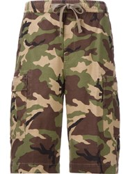 Monkey Time Camouflage Cargo Shorts Green