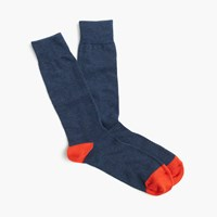 J.Crew Pre Order Cotton Stretch Socks Indigo Persimmon