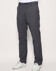 He By Mango Fine Stripe Turn Up Chinos Black