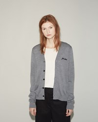Julien David Monogram Cardigan Grey