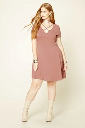 Forever 21 Plus Size Cutout Skater Dress