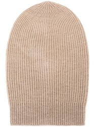 Rick Owens Large Slouchy Beanie Nude And Neutrals