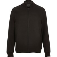 River Island Mens Dark Brown Smart Tailored Bomber Jacket