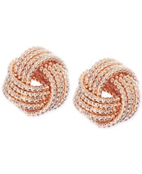 Nine West Gold Tone Knot Stud Earrings